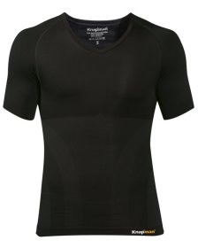 Knap'man UltraThin compression shirt  v-neck black