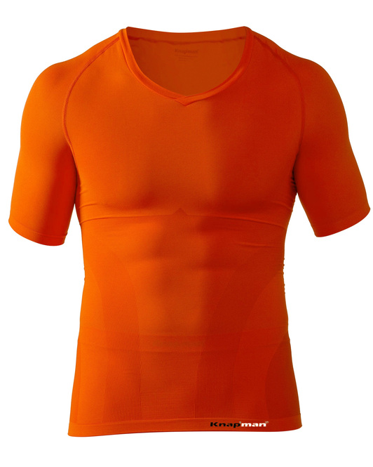 Knap'man UltraThin compression shirt  v-neck orange