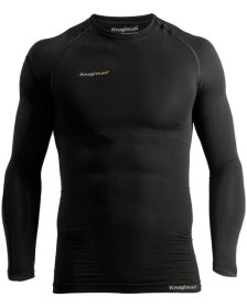 Knap'man UltraThin compression shirt long sleeve crew neck black